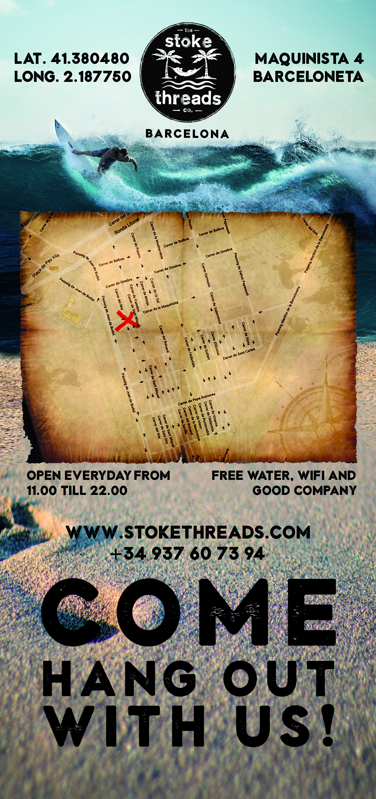 Stoke Threads Flyer achterkant